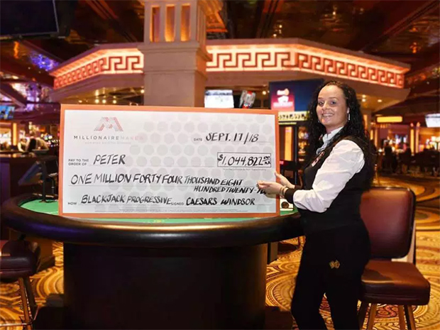 Man Wins $1 Million Blackjack Jackpot at Caesars Windsor